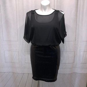 🆕Scarlett Nite Sequin Tank Midi Black Dress 8